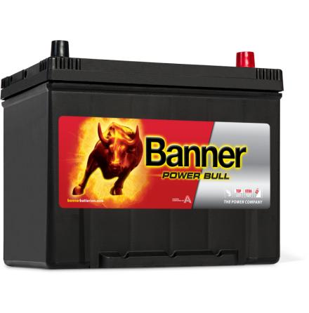 Bilbatteri 12V 70Ah Banner Power Bull P7029. LxBxH: 260x175x200/222mm Banner Bäst i Testfakta 2013 och 2015