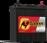 Bilbatteri 40Ah Banner Power Bull P4026. LxBxH:187x127x226mm  Bäst i Testfakta 2013 och 2015
