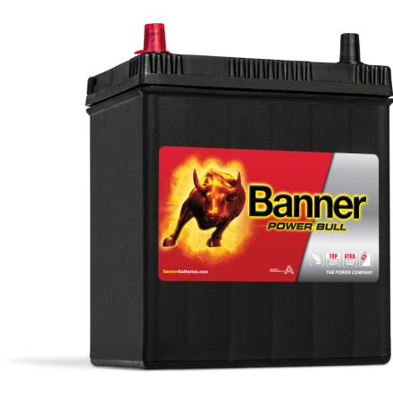 Bilbatteri 40Ah Banner Power Bull P4027. LxBxH:187x127x226mm  Bäst i Testfakta 2013 och 2015