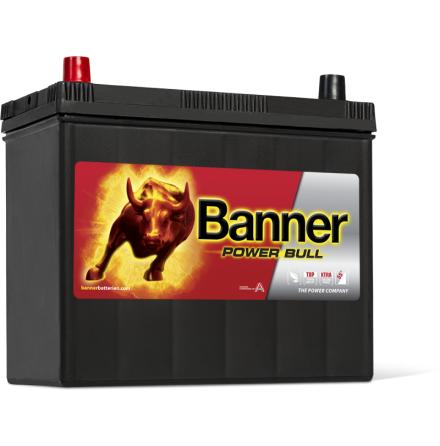 Bilbatteri 12V 45Ah Banner Power Bull P4524. LxBxH:238x129x225mm  Banner Bäst i Testfakta 2013 och 2015