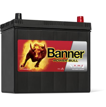 Bilbatteri 12V 45Ah Banner Power Bull P4523. LxBxH:238x129x225mm  Bäst i Testfakta 2013 och 2015