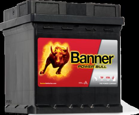 Bilbatteri 42Ah Banner Power Bull P4208. LxBxH:175x175x190mm Bäst i Testfakta 2013 och 2015