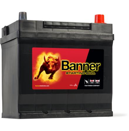 Bilbatteri 12V 45Ah BannerStartingBull 54577.LxBxH:218x135x203/225mm