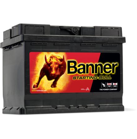 Bilbatteri Banner Starting Bull 12V 62Ah 56219. LxBxH:241x175x190mm