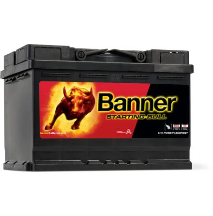 Bilbatteri 12V72Ah BannerStartingBull 57212 57412. LxBxH:278x175x190mm