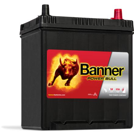 Bilbatteri 40Ah Banner Power Bull P4025. LxBxH:187x137x204/226mm Bäst i Testfakta 2013 och 2015