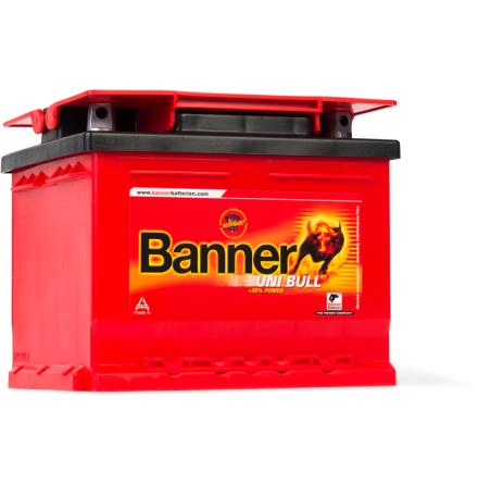 Bilbatteri 12V 48Ah Banner Uni Bull 50100. LxBxH:210x175x175mm  Banner bäst i Testfakta 2013 och 2015 EAN 9005753005648
