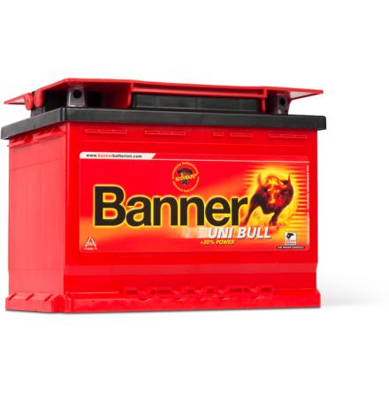 Bilbatteri 12V 69Ah Banner Uni Bull 50300. LxBxH:241x175x190mm Banner bäst i Testfakta 2013 och 2015 EAN9005753005662