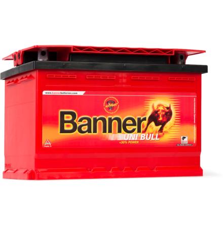 Bilbatteri 12V 80Ah Banner Uni Bull 50500. LxBxH:278x175x190mm Banner bäst i Testfakta 2013 och 2015 EAN9005753021792