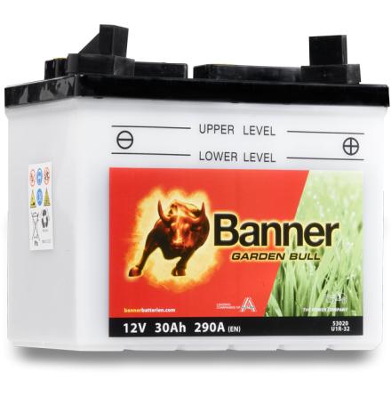 Gräsklipparbatteri Garden Bull 30Ah 53020 U1R-32 lxbxh=196x131x183mm Banner Bäst i Testfakta 2013 och 2015