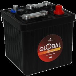 Bilbatteri 6V 45Ah Global 54059 LxBxH:175x175x190mm SMF L0  EAN 7394086540592