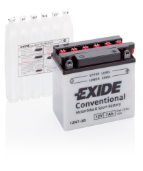 Tudor Exide Mc batteri 7 Ah 12N7-3B 135x75x133mm