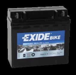 Tudor Exide MC batteri 18Ah AGM 12-18 4584 lxbxh=181x75x165mm  YB16CL-B YB16CL-BS YTX16CL-B-BS