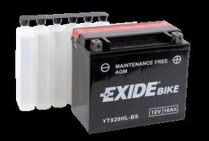 Tudor Exide MC batteri 18Ah AGM YTX20L-BS 4599 lxbxh=175X90X155mm
