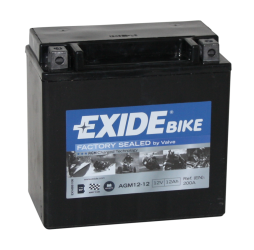 Tudor Exide MC batteri 12Ah AGM 12-12 4918 SLA12-12 lxbxh=150x90x145mm