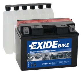 Tudor Exide MC batteri 11Ah AGM 4977 lxbxh= 150x87x110mm