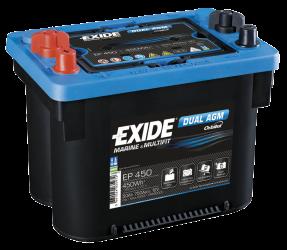 Fritidsbatteri 50Ah AGM Dual Tudor Exide EP450 LxBxH:265x175x206mm