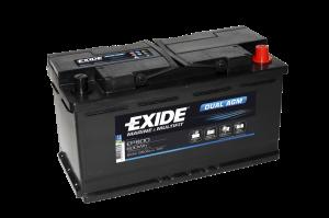 Fritidsbatteri 92Ah AGM Dual Tudor Exide EP800 LxBxH:353x175x190mm