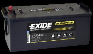 Fritidsbatteri 210Ah GEL Tudor Exide  ES2400 LxBxH:480/520x280x240mm