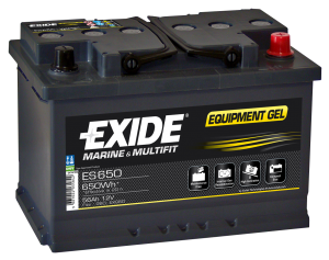 Fritidsbatteri 56Ah GEL Tudor Exide GEL ES650 LxBxH:278x175x190mm