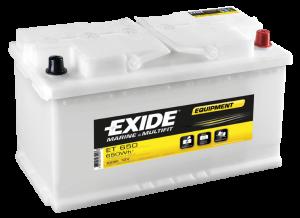 Fritidsbatteri 12V 100Ah Tudor Exide ET650 LxBxH:353x175x190mm