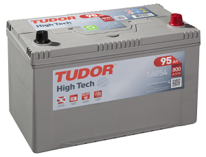 Startbatteri 95Ah Tudor Exide TA954 High Tech. LxBxH:306x173x222mm