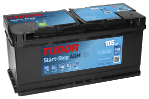Startbatteri 105Ah Tudor START-STOP AGM LxBxH:392x17