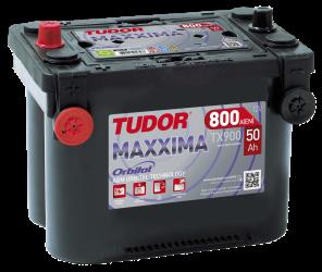 Startbatteri 50Ah AGM Tudor Exide TX900 MAXXIMA LxBxH:260x175x206mm Orbital teknologi