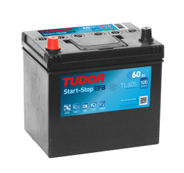 Bilbatteri 60Ah Tudor ExideTL605 Start-Stop EFB