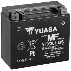 YUASA MC batteri 18Ah YTX20L-BS lxbxh=175x87x155mm